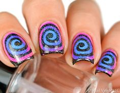 Love the colors in this awesome macro by @redheadnails using our Whirlpool Nail Vinys. Find them at snailvinyls.com