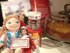 Elf and Angel ideas- make a Happy Birthday Jesus Cake