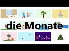 Monate - Deutsch lernen / learn German - Deutsch A1 - A2 - YouTube