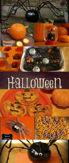 Wow this is great - a bumper round up of activities and treats for kids just in time for Halloween! Haloween Party, Halloween Class Party, Halloween Birthday, Holidays Halloween, Halloween Treats, Happy Halloween, Halloween Foods, Kid Halloween, Halloween Projects