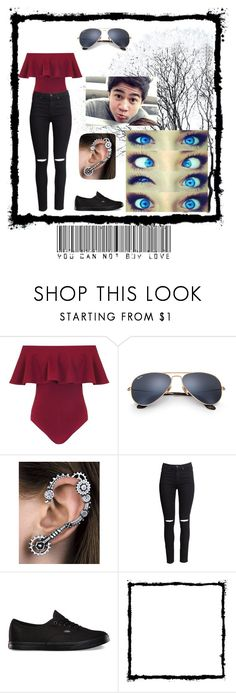 """""""Making funny faces with Cal 😁"""" by cutepancake ❤ liked on Polyvore featuring Dorothy Perkins, Ray-Ban, H&M, Vans and Hello Kitty"""