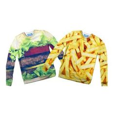 The only thing that goes together better than a burger and fries is you and your BFF! It's the best thing to happen since Bacon and Eggs. Look out world, it's t Things That Go Together, Burger And Fries, French Fries, Bff, Sweaters, Hamburger And Fries, Ruffles Potato Chips, Chips, Pullover