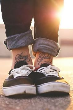 Love ankle tattoo