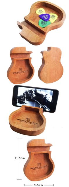 A Guitar Shape iPhone Cell Phone Stand Mount Holder Business Card Display Stand Holder Paper Clip Holder Collection Office Desk Stationery Organizer Guitar desktop ornaments for iPhone 77 Plus6s6s Plus and other smartphones