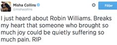 Misha Collins about Robin Williams
