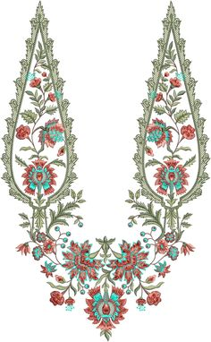 Embroidery Designs, Hand Embroidery Patterns Free, Embroidery Motifs, Embroidery Dress, Bridal Lehenga Collection, Floral Artwork, Collar Designs, Album Design, Textile Design