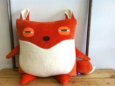 fox pillow. velvet mustache. montreal.