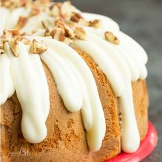 Pecan Banana Cake Mix Cake is easy, simple, homemade goodness baked with pecans and topped with a delicious maple cream cheese frosting, and toasted pecans.