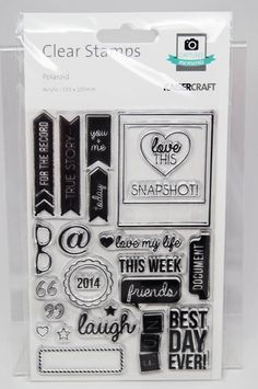 KaiserCraft Polaroid Captured Moments Collection Clear Stamps -- Acrylic -- Polaroid
