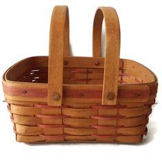 Vintage Longaberger Large Square Basket Wood by EclecticVintager