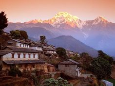 Ghandrung, Nepal. This little country, around the size of Tennessee, is at the top of my travel list!