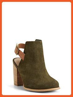 80659d7319f7 Genuine Suede Heeled Slingback Booties (Wide Width) - Sandals for women  ( Amazon
