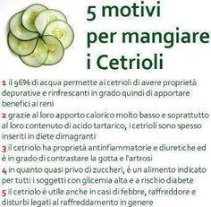 Perchè mangiare i cetrioli