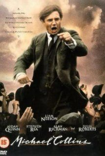 Michael Collins starring Liam Neeson, Alan Rickman, Aidan Quinn and Julia Roberts, tells the story of Irish revolutionary (and infamous compromiser) Collins. Aidan Quinn, Michael Collins, Liam Neeson, Julia Roberts, Alan Rickman, Great Films, Good Movies, Saddest Movies, Awesome Movies