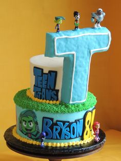 Teen Titans Go birthday cake by Cutie Pie Cakes and Desserts