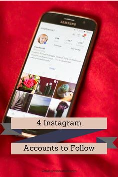 'm addicted to Instagram and I love scrolling down at all the pretty  pictures and liking them. So here are 4 Instagram accounts to follow.