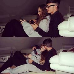 Awww playing video games together