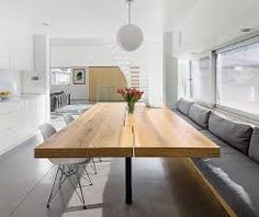 Image result for  wood concrete kitchen