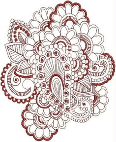 Henna Tattoo Embroidery Designs. $7.95, via Etsy.