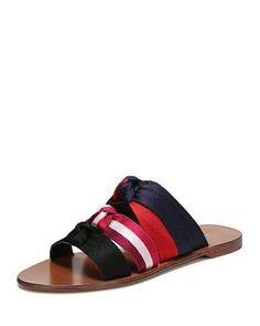 1ada711200577b LOFT Satin Knot Slide Sandals