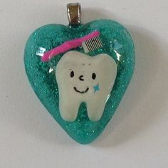Happy Tooth Necklace, Dental Hygienist, Dental Assistant Jewelry, Dentist gift, Dental art, Kawaii jewelry, Toothbrush, cute tooth necklace on Etsy, $12.00