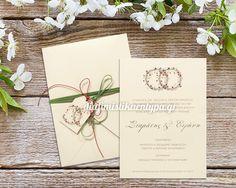 ΚΩΔΙΚΟΣ 7503  Προσκλητήριο γάμου με λουλούδια #προσκλητηρια