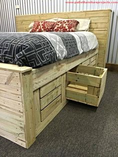 So, how about this new stunning pallet made bed? Sounds something exciting to work on? Recently a friend of mine wanted to change his room bed, but as you all know I am a pallet fanatic, I just asked him to go for some recycling wood pallet experience. And you know what, he is so damn influenced by the idea.