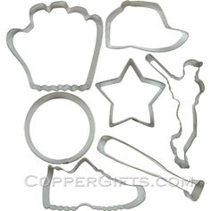 Baseball Cookie Cutter Set (Tin) :  Copper Gifts