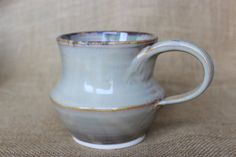 Very unique wheel thrown stoneware pottery 16 ounce by AudPottery