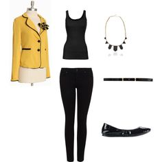 pop of yellow, created by meredithsinclair.polyvore.com