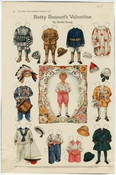 75.2935: Betty Bonnet's Valentine | paper doll | Paper Dolls | Dolls | National Museum of Play Online Collections | The Strong