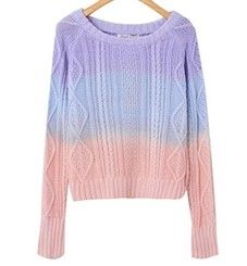 We offer FREE and FAST worldwide shipping for this item. Excellent Moooh!! customer service is included in the price!!  New Fall 2013 Moooh!! apparels collection. Elegant tie-dye warm sweater. This product is made of 100% soft natural wool.Choose between 2 colors.  Style: Comfortable Knitted...