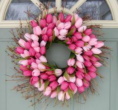 Spring Wreath Spring Tulip Wreath
