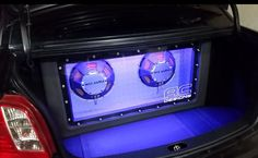 Clean trunk install by AC Designs using FPR series shallow subwoofers #mtxaudio
