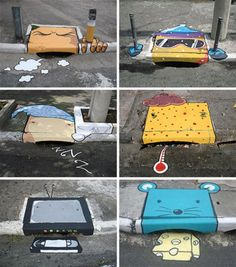 street graf......so cute would love to do one in our neighborhood..LOL