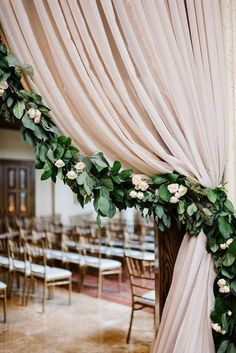 dusty rose and greenery wedding arch ideas