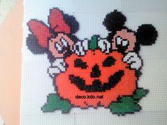 Mickey Minnie Halloween hama beads / cross stitch by decokdonat