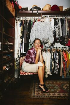 Le Catch's Marlien Rentmeester in her incredible closet.