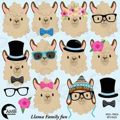 Llama Heads Clip Art, Alpaca Clipart, Animal Faces, from Best Teacher Tools Alpacas, Images Lama, Llama Clipart, Llama Decor, Llama Face, Llama Birthday, Llama Alpaca, Teacher Tools, Doodles