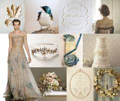 blue-tan-wedding-colors-snippetandink-sepia-jewel-wedding-inspiration-board.jpg (1022×864)