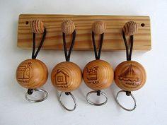Vintage Aarikka Wooden Key holder Made in Finland in 80s