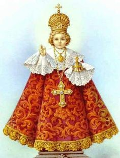The Grace-Giving Infant Jesus of Prague The charming statue of the Child Jesus, displayed for people to venerate in the church of Our Lady. Religious Pictures, Jesus Pictures, Religious Art, Catholic Prayers, Catholic Saints, Bible Prayers, Roman Catholic, Sto Nino, Infant Of Prague