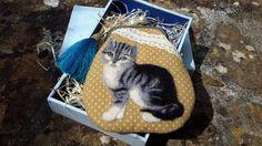 Needle felting embroidery cat purse by Madinapurse on Etsy