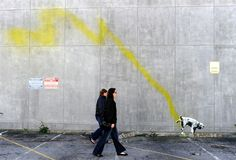 """Banksy paints L.A. - A graffiti attributed to secretive British artist Banksy shows a dog urinating on a wall in Beverly Hills, California on February 17, 2011. Another graffiti was ripped down Wednesday in Hollywood, amid sightings of other pieces in a reported pre-Oscars publicity stunts. Banksy is nominated for best documentary for """"Exit Through the Gift Shop"""" at the Oscars, due to be announced on Feb. 27 at the climax of Tinseltown's annual awards season."""