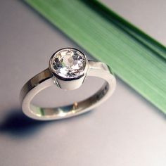White Light Topaz Ring Sterling Silver by ChrisMuellerJewelry, $80.00