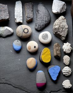 Eve Ashcraft painted rocks; Remodelista