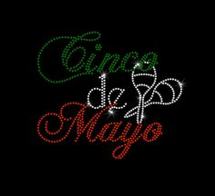 Cinco de Mayo Hotfix Rhinestone Bling Iron by MyCreativeOutletTime