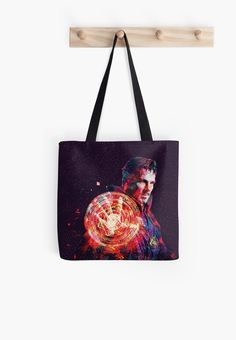 'Benedict Cumberbatch - Dr Strange' Tote Bag by Big Tote Bags, Cotton Tote Bags, Reusable Tote Bags, Instagram Challenge, Fun Comics, Comic Book Heroes, Super Powers, Dream Big, The Dreamers