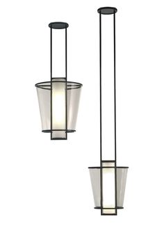 Pendant lamp / contemporary / glass / handmade LUCERNE Kevin Reilly Collection