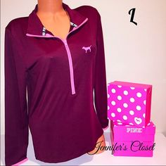 Spotted while shopping on Poshmark: {Victoria Secret PINK} ultimate deep zip up! #poshmark #fashion #shopping #style #PINK Victoria's Secret #Tops
